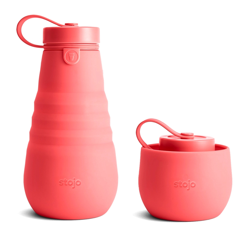 Bouteille silicone pliable