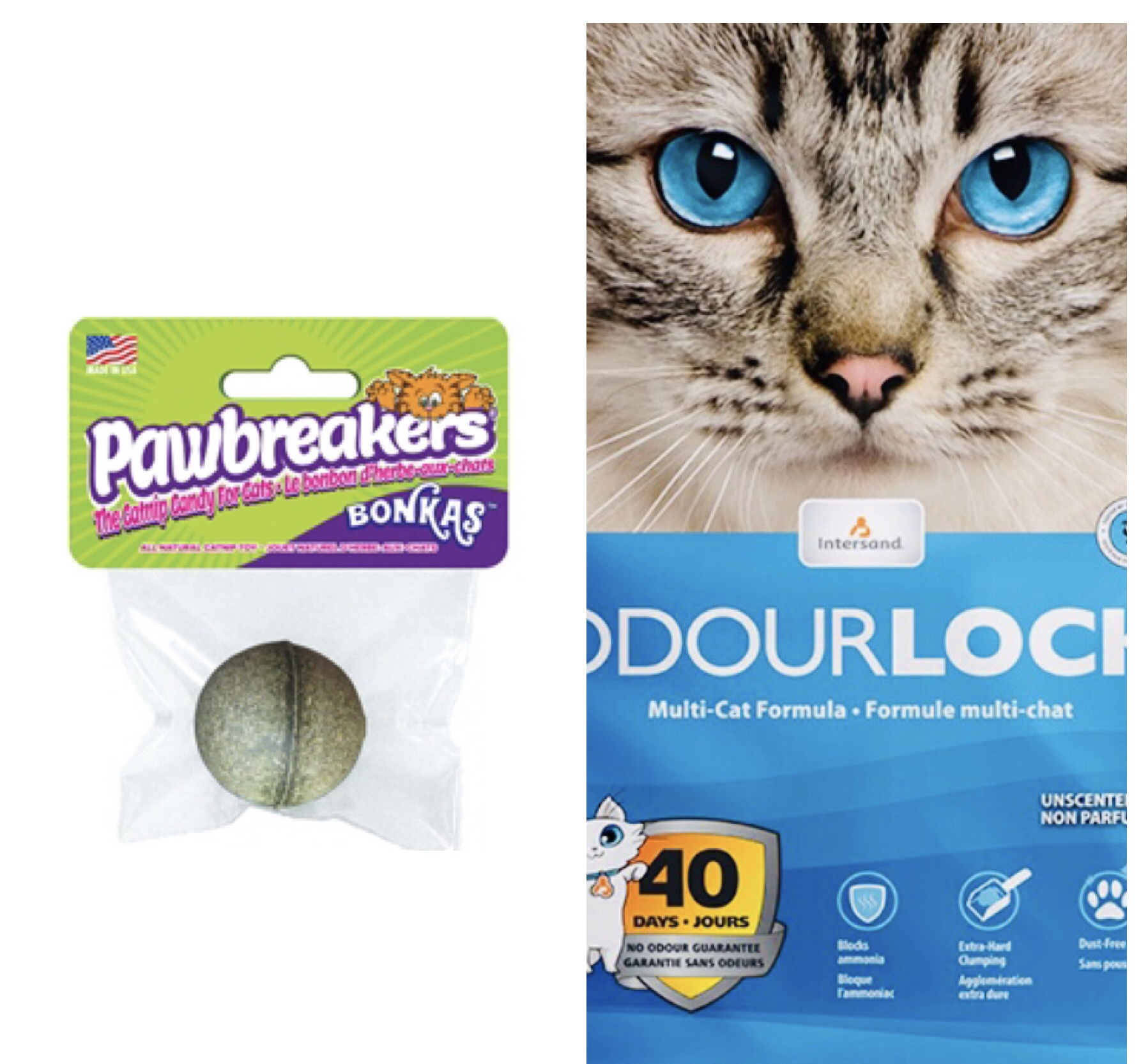 Chat – Duo Odor Lock Et Balle Herbe À Chat – Accessoires Chat